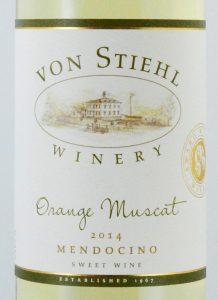 Orange Muscat Wine Bottle