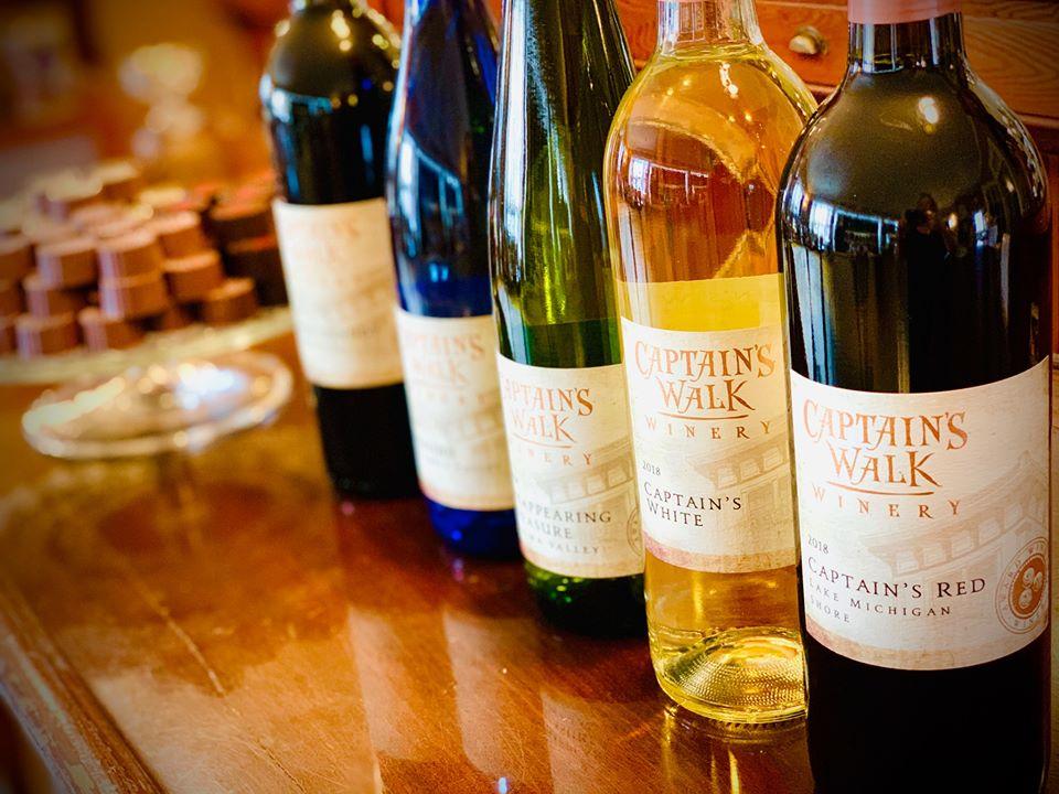 Bottles of Captain's Walk wine